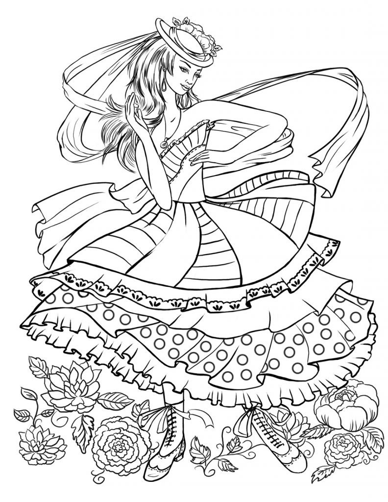 Colouring Pictures For Girls Fashion