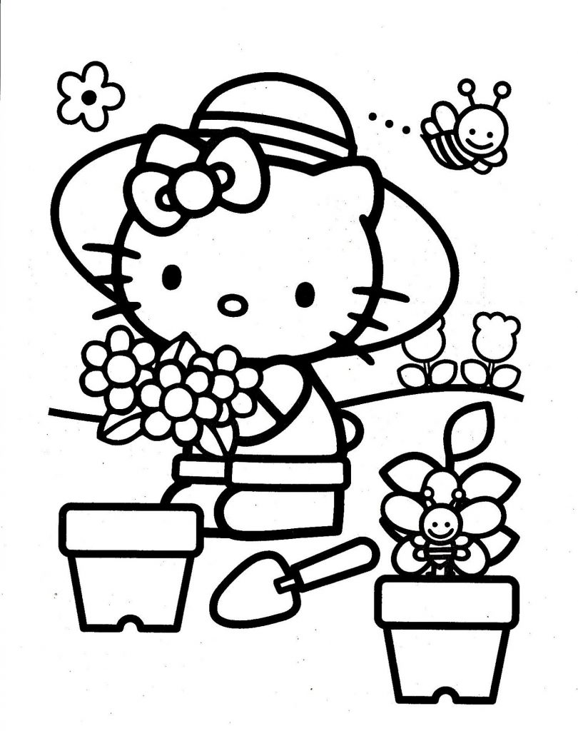 Colouring Pictures For Girls Hello Kitty
