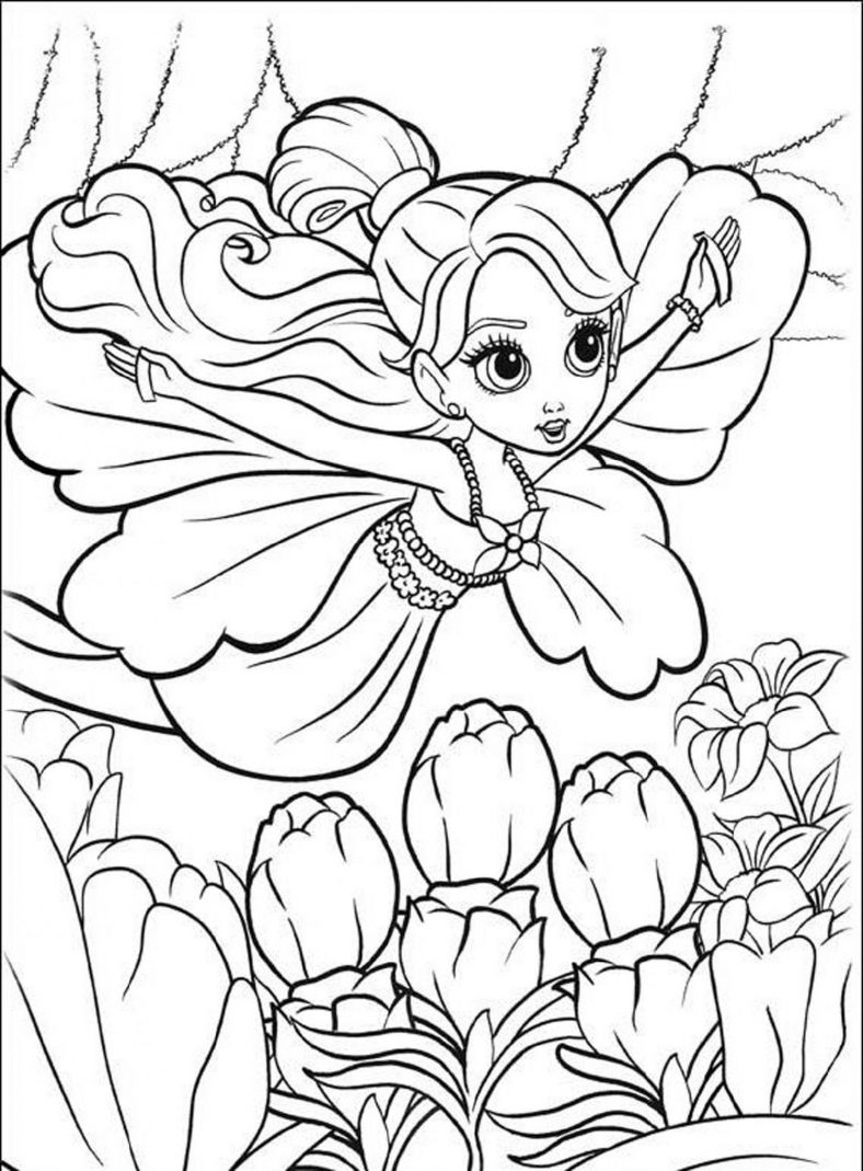 Colouring Pictures For Girls Kawaii