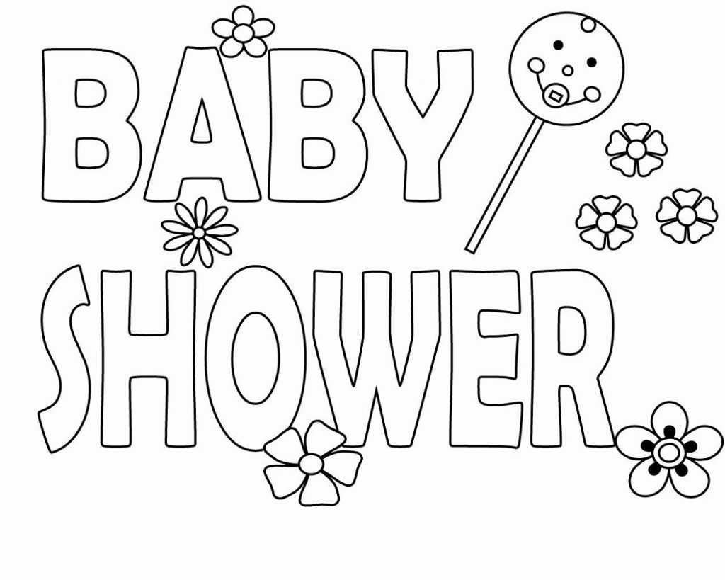 Congratulations Baby Shower Coloring Pages