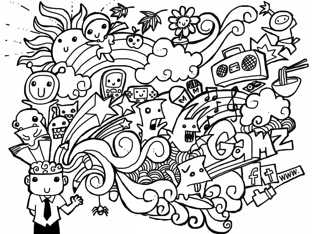 Cool Coloring Pages Doodle