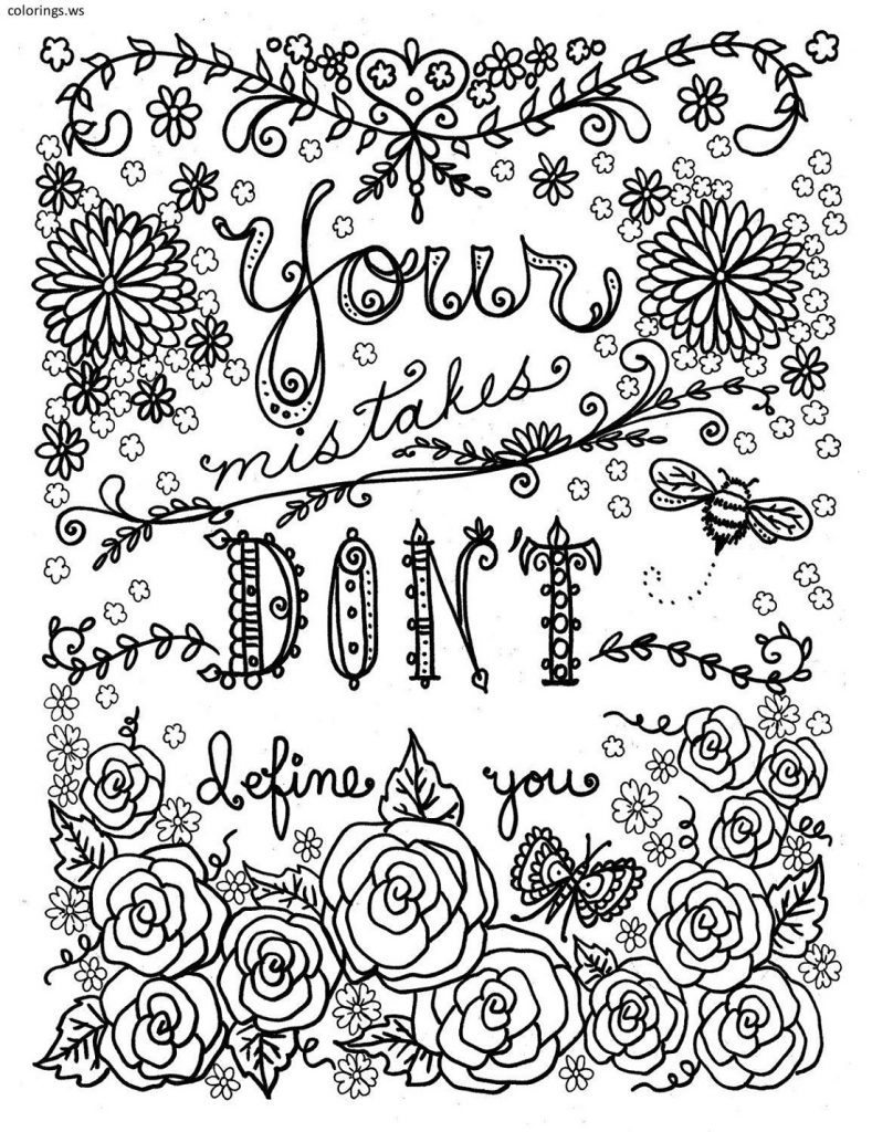Cool Coloring Pages Quotes