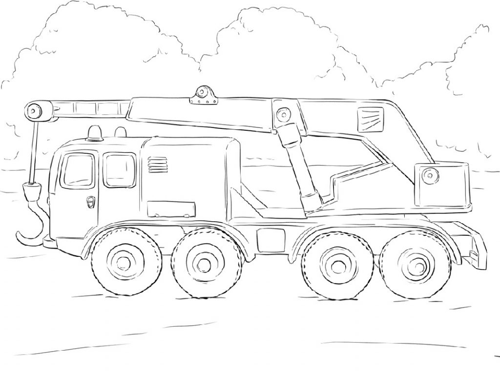 Crane Truck Coloring Pages