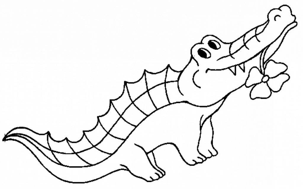 Crocodile Coloring Pages Easy