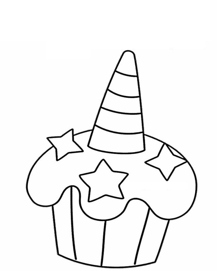 Cupcake Coloring Pages Unicorn