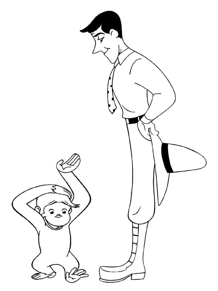 Curious George Coloring Pages And Yellow Hat