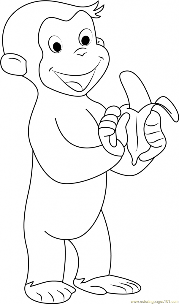 Curious George Coloring Pages Monkey