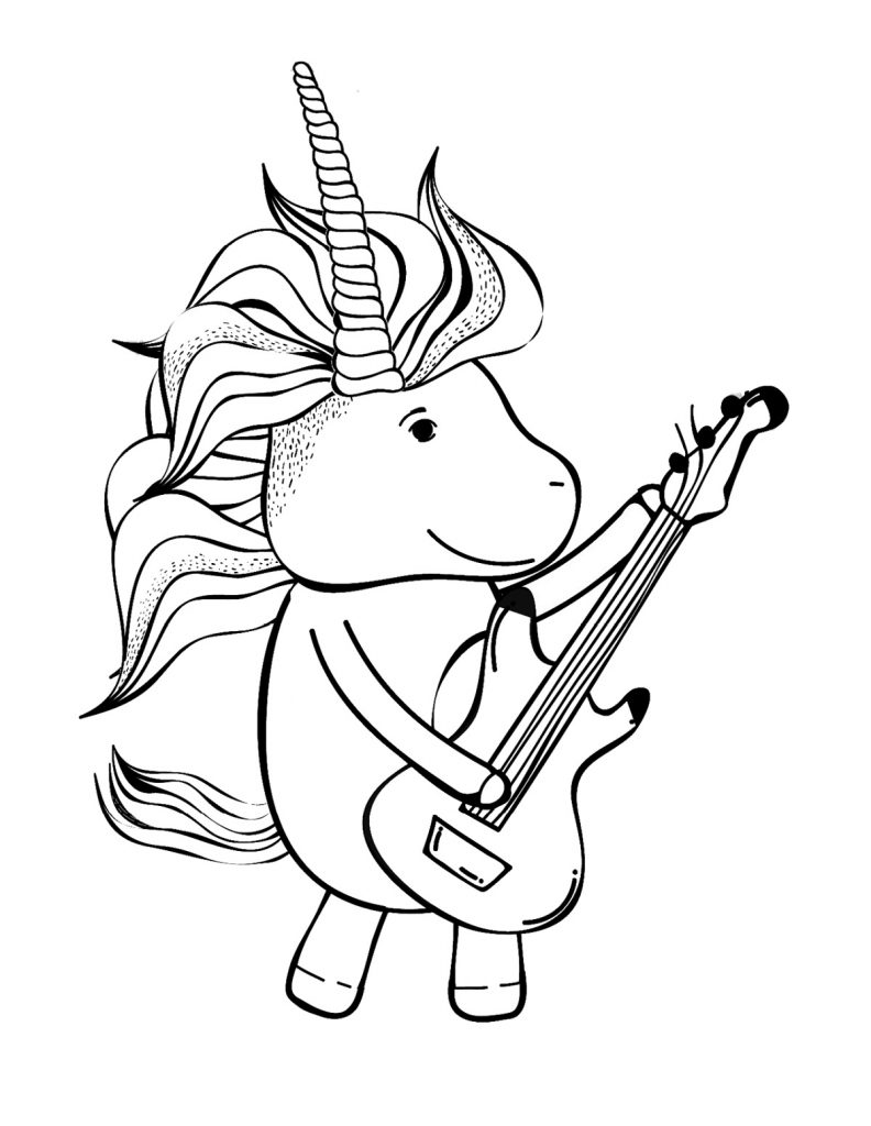 Cute Baby Animal Coloring Pages Unicorn