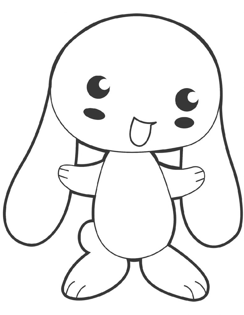 Simple and Detailed Bunny Coloring Pages | 101 Coloring