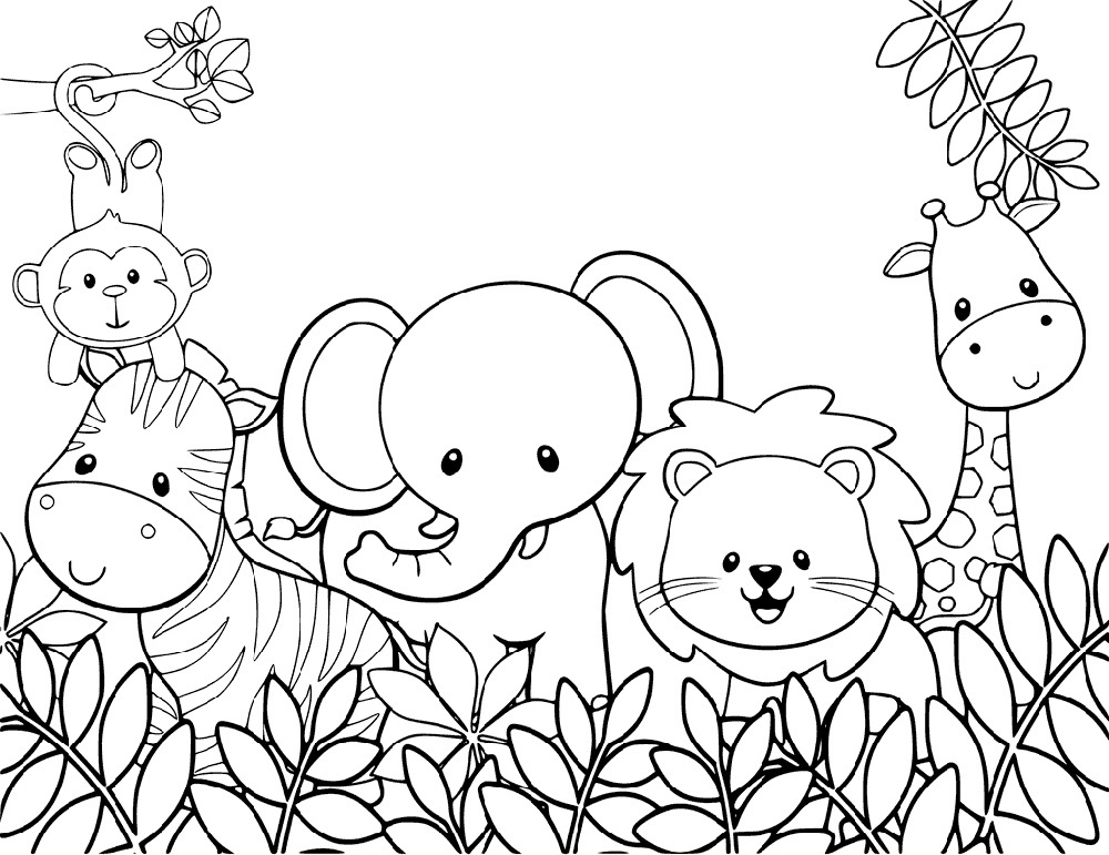 Cute Coloring Pages Animal