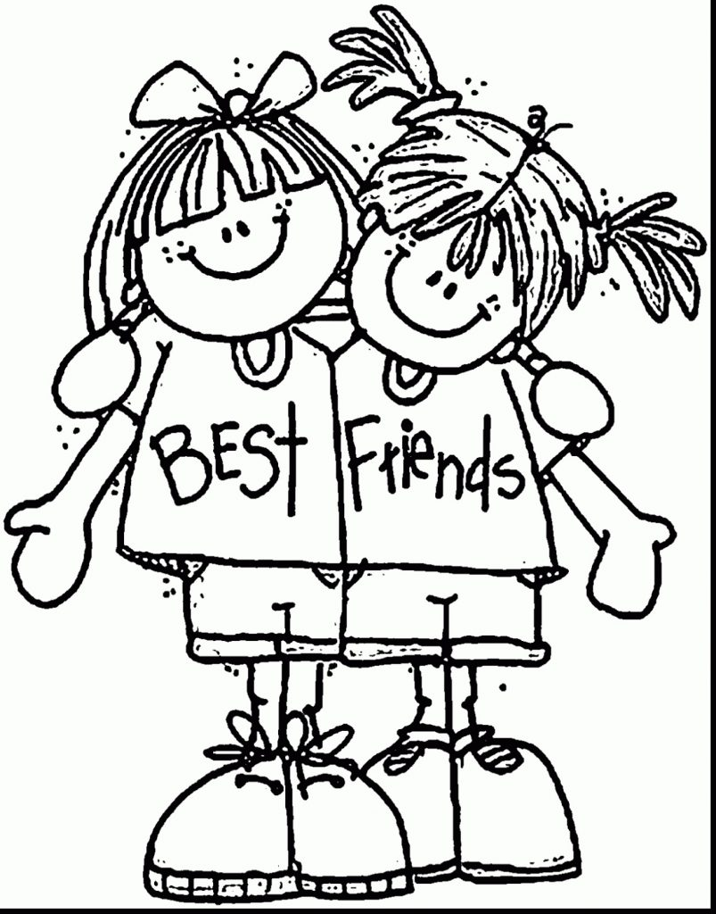 Cute Coloring Pages For Girls BFF