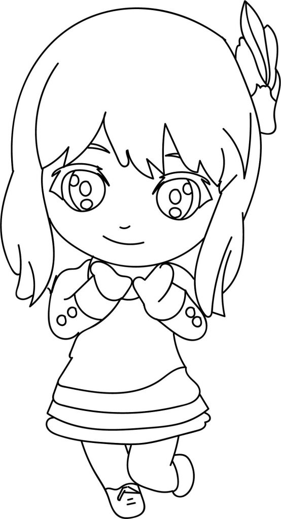 Cute Coloring Pages For Girls Chibi
