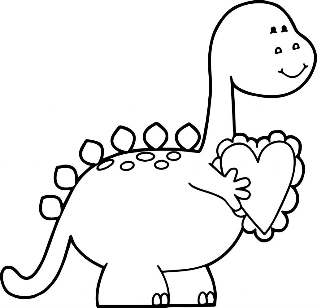 Cute Dinosaur Coloring Pages Printable