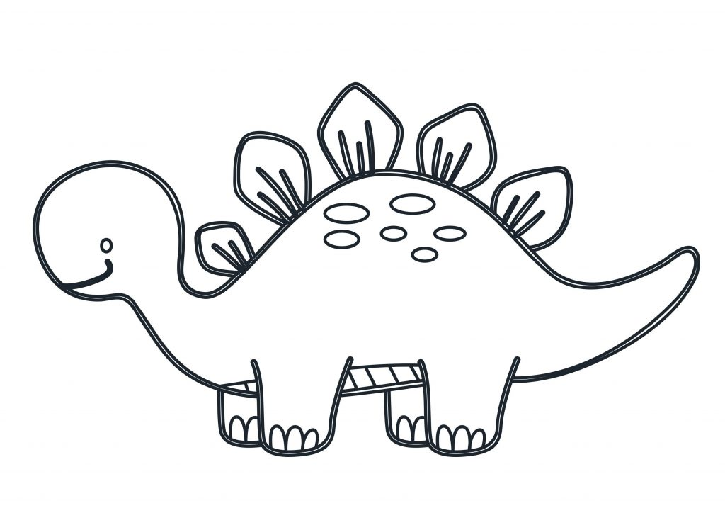Cute Dinosaur Coloring Pages Simple