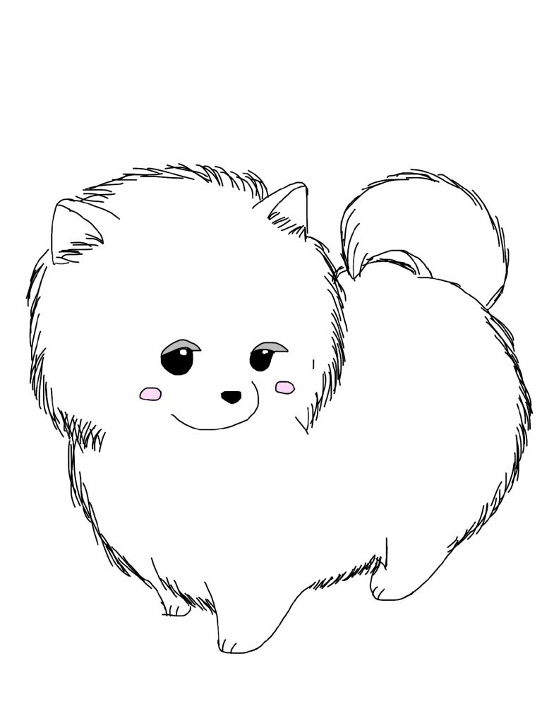 Cute Dog Coloring Pages Fluffy
