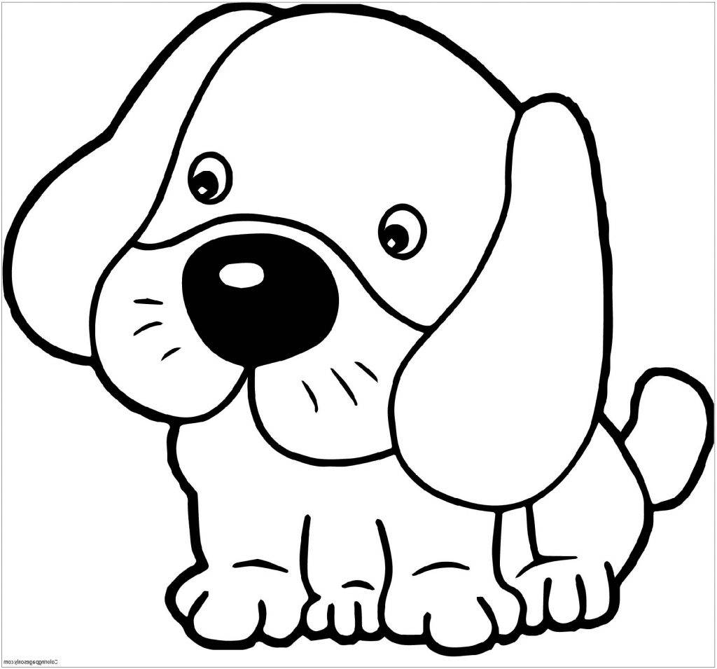 Cute Dog Coloring Pages For Kids
