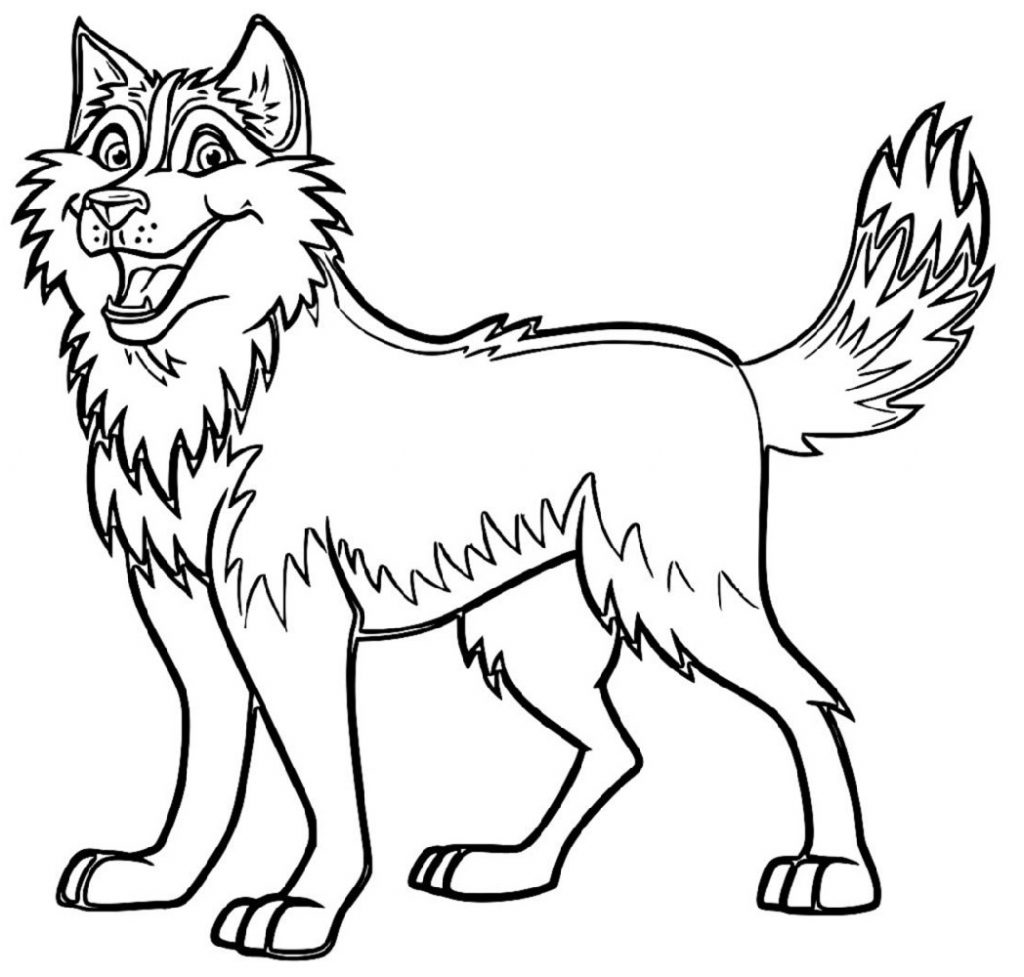Cute Dog Coloring Pages Husky