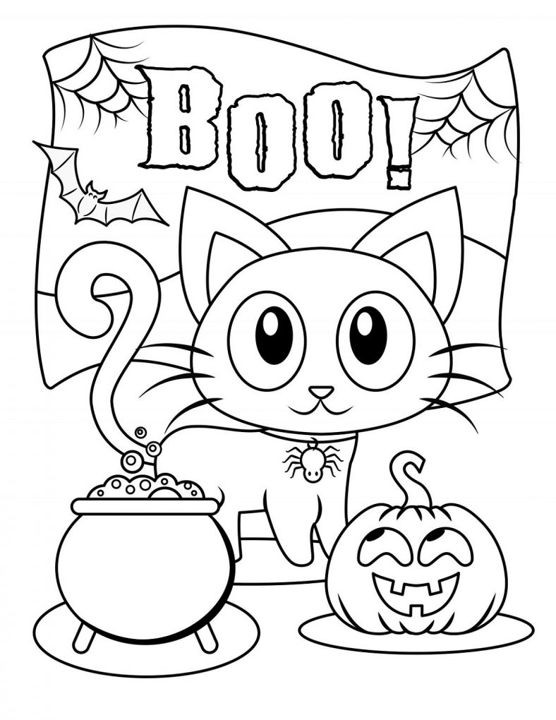 Cute Halloween Coloring Pages Free