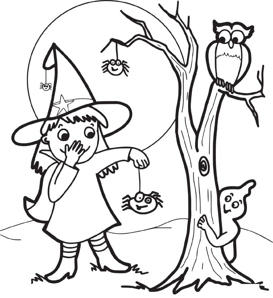 Cute Halloween Coloring Pages Witch