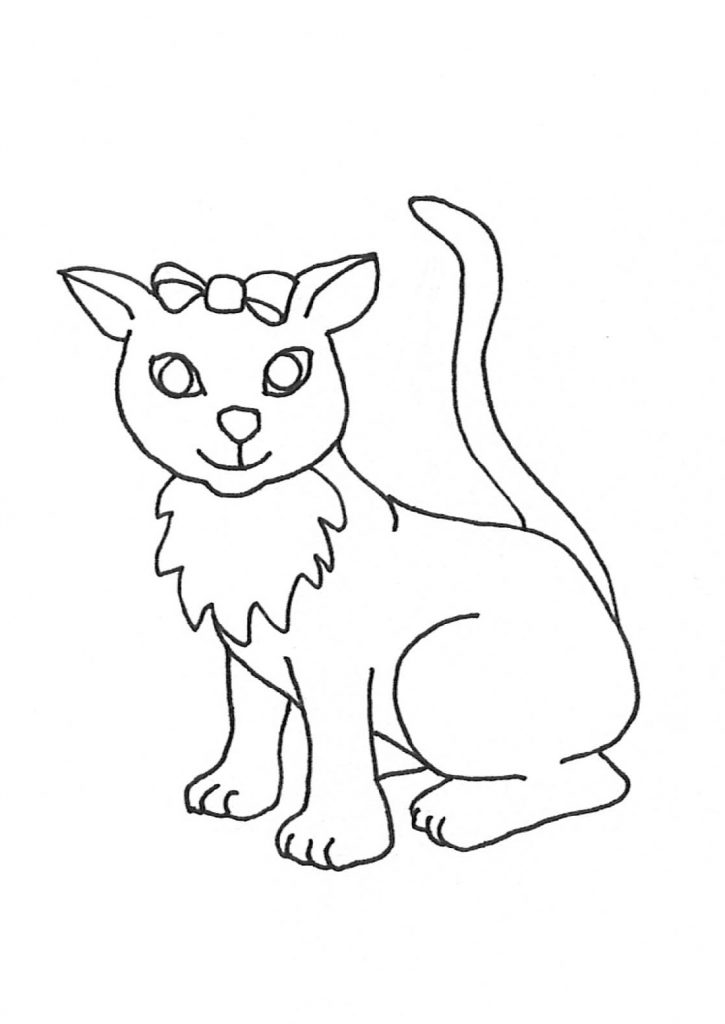 Cute Kitten Coloring Pages Big Eye