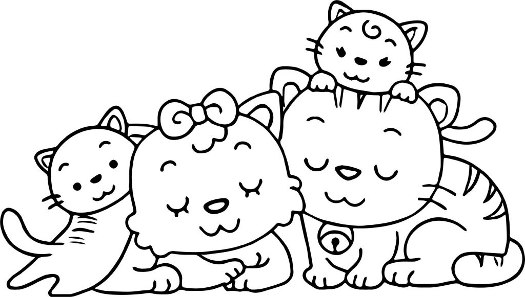 Cute Kitten Coloring Pages Family