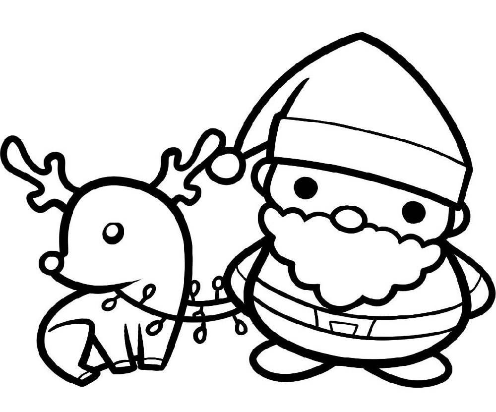 Cute Santa Coloring Pages