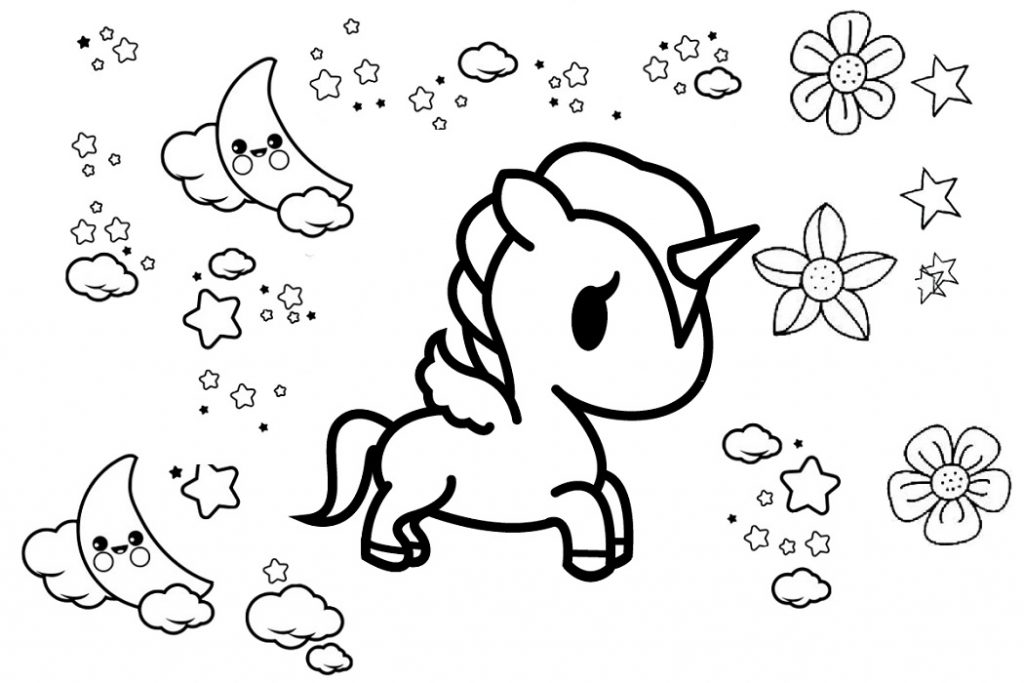 - Fairy Unicorn Coloring Pages Printable 101 Coloring