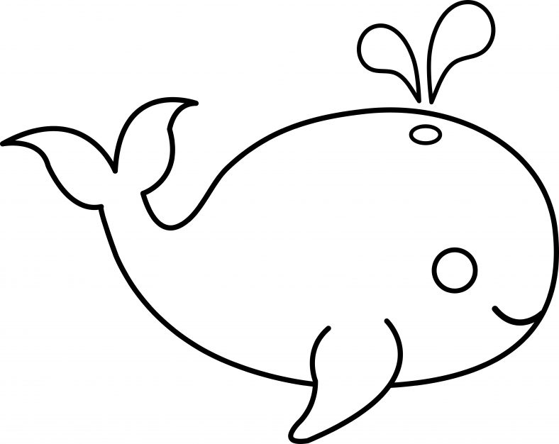 Cute Whale Coloring Pages