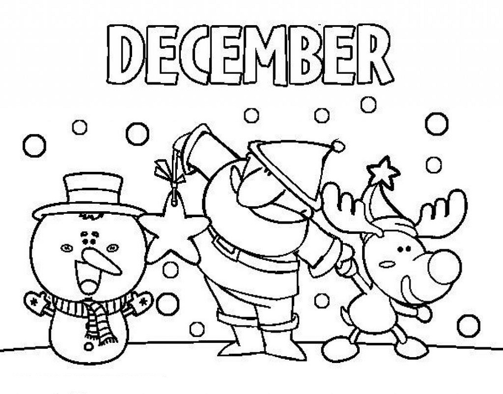 December Coloring Pages Sheet