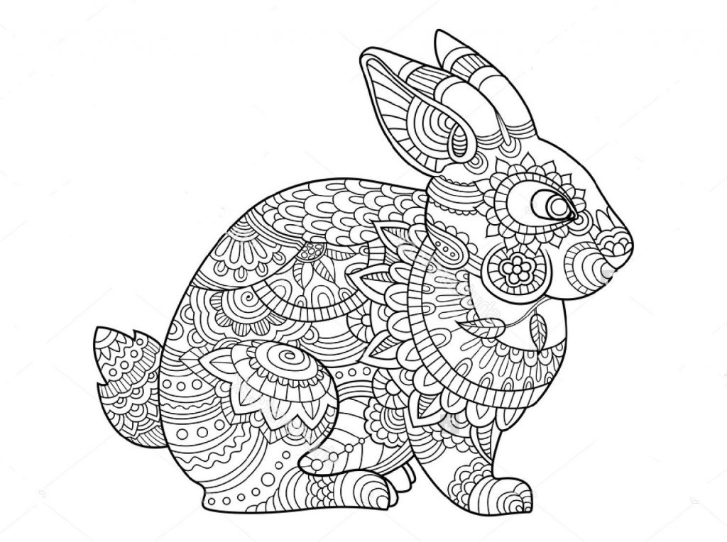 Detailed Bunny Coloring Pages