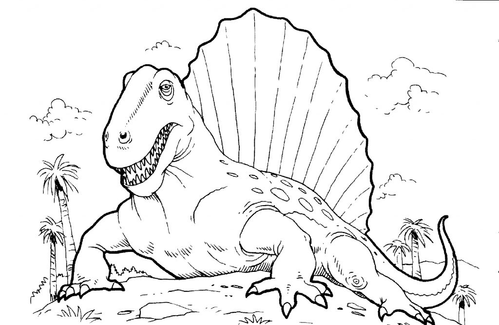Dinosaur Coloring Pages Cute Cartoon Dinosaur Coloring Page Free ... | 667x1024
