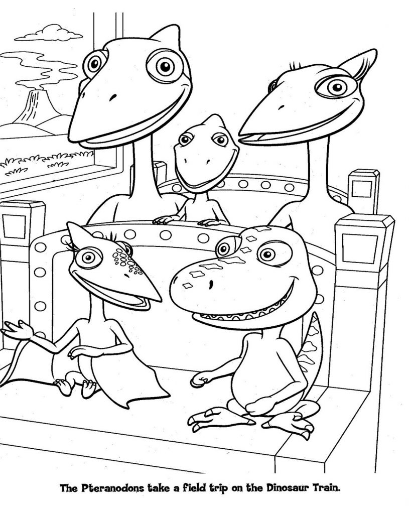 Dinosaur Coloring Train