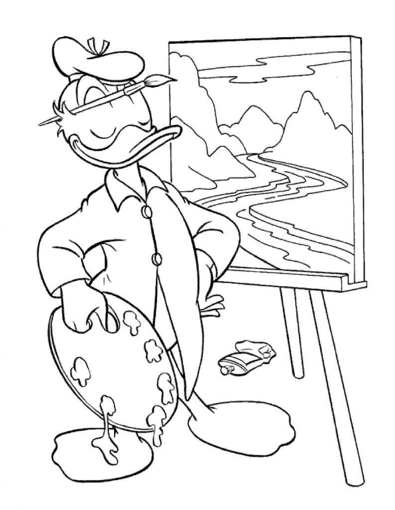 Donald Duck Coloring Pages Disney
