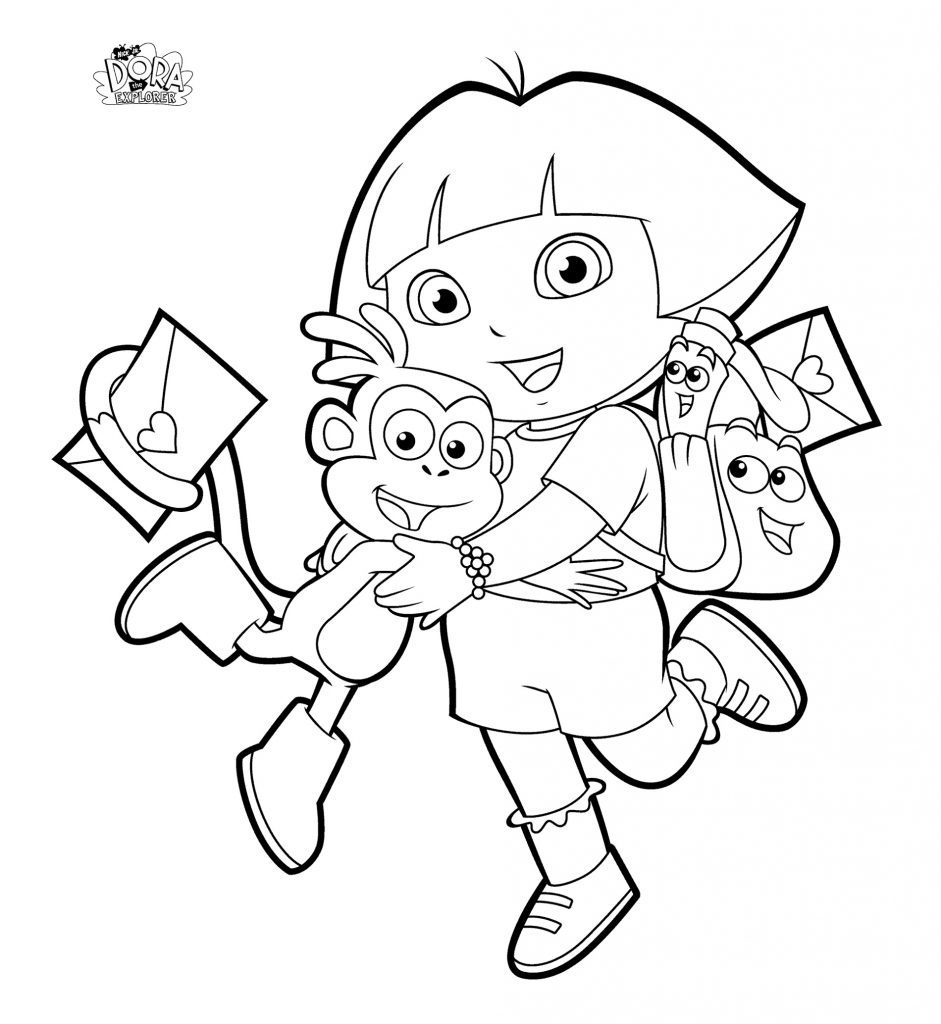Dora The Explorer Coloring Pages Backpack