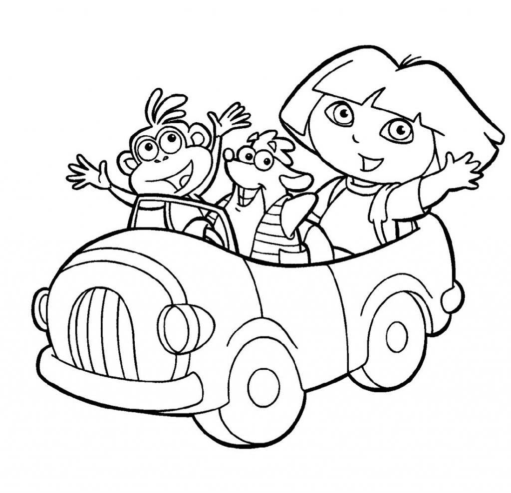 Dora The Explorer Coloring Pages Nick Jr