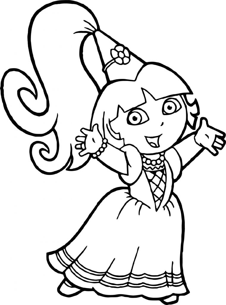 Dora The Explorer Coloring Pages Princess