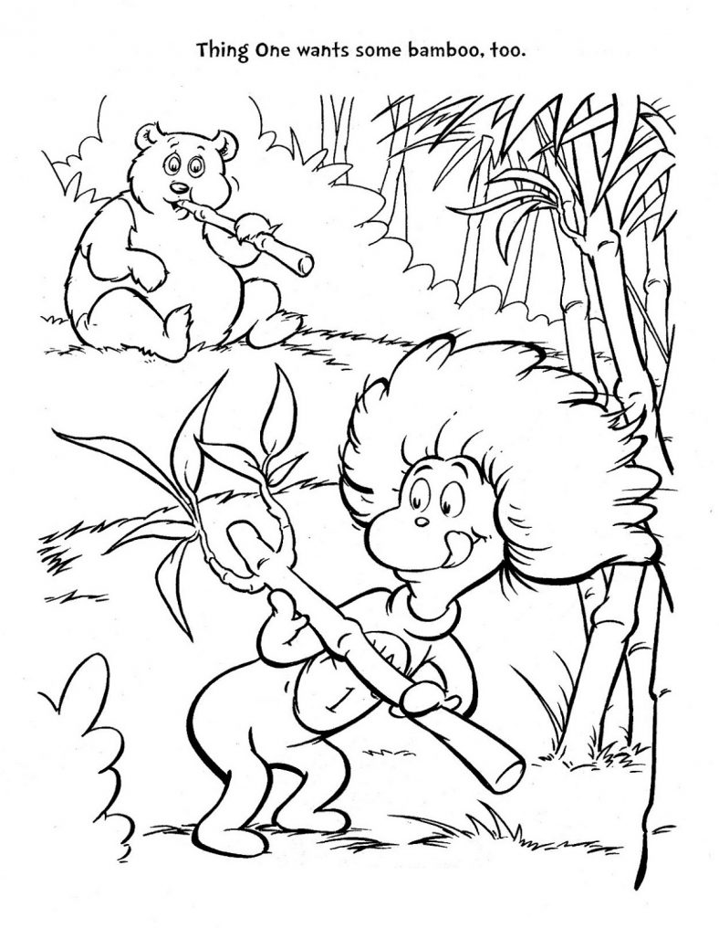 Dr Seuss Coloring Pages Free