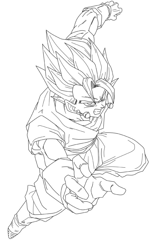 Dragon Ball Coloring Pages Vegito
