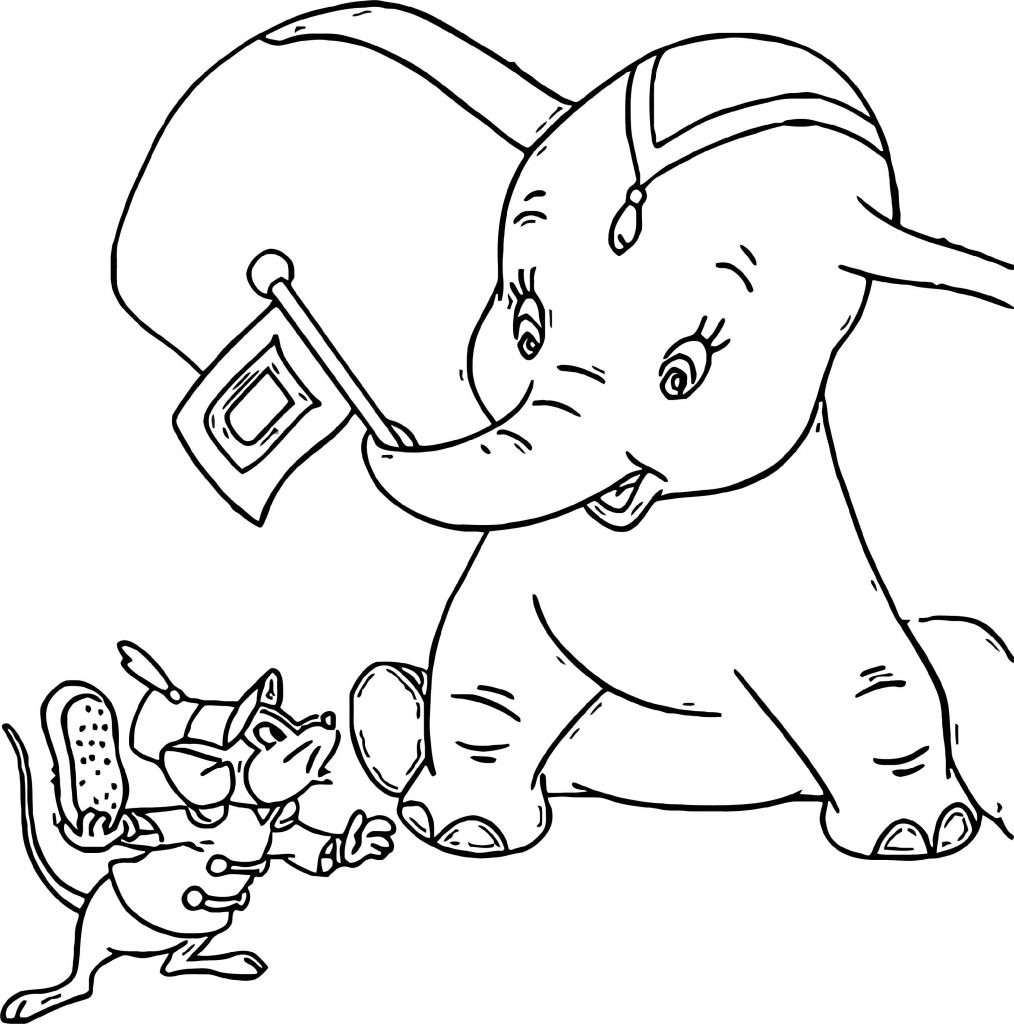 Dumbo Coloring Pages Cartoon