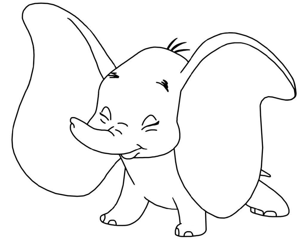 Dumbo Coloring Pages Disney