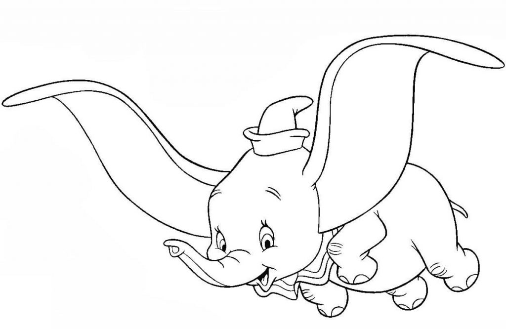 Dumbo Coloring Pages Elephant