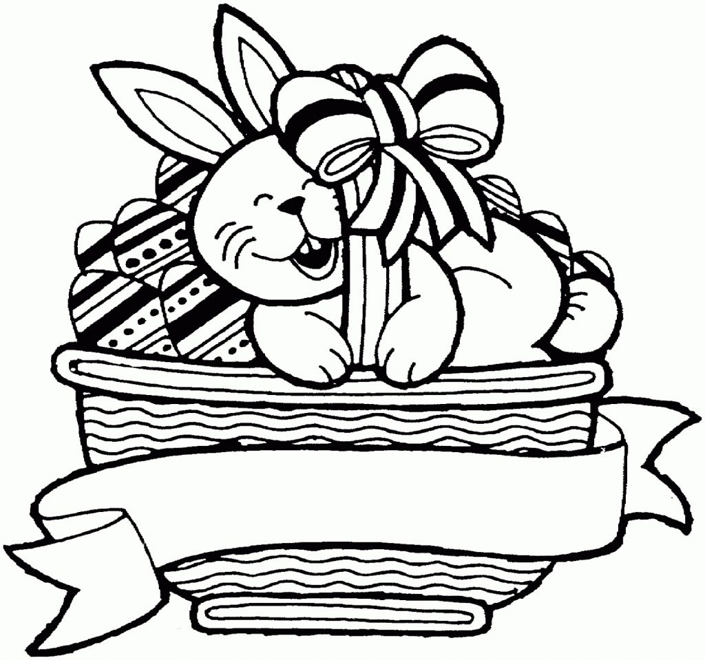 Easter Basket Coloring Pages Happy