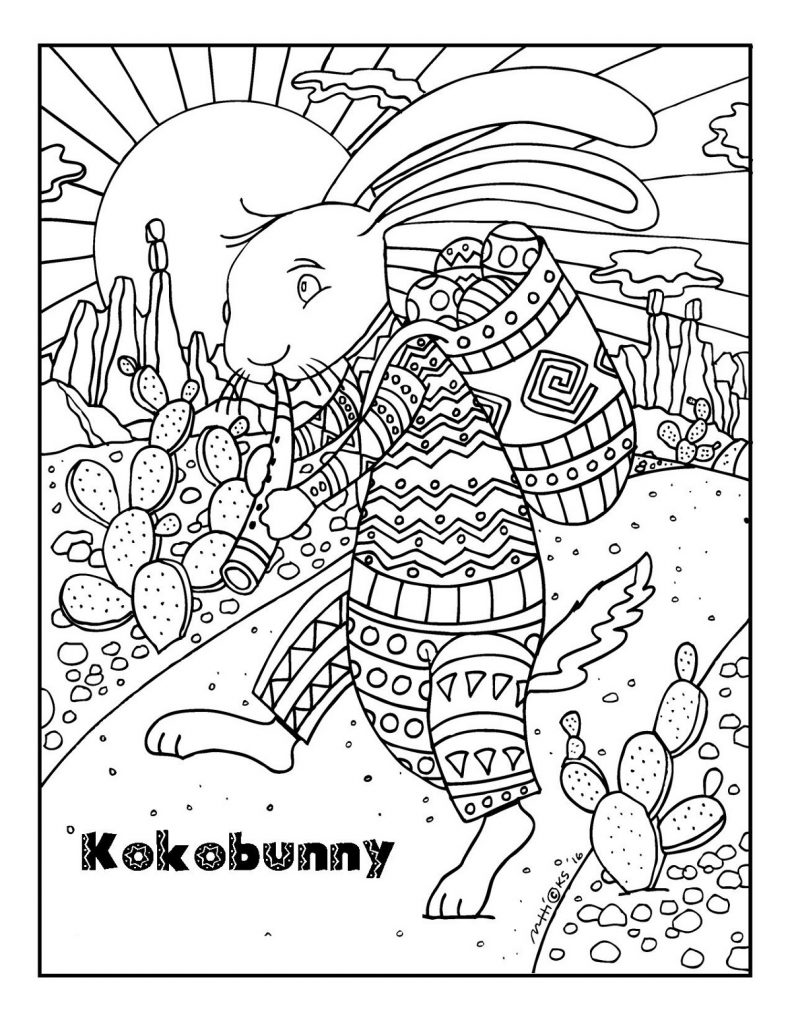 Easter Bunny Coloring Pages For Adults