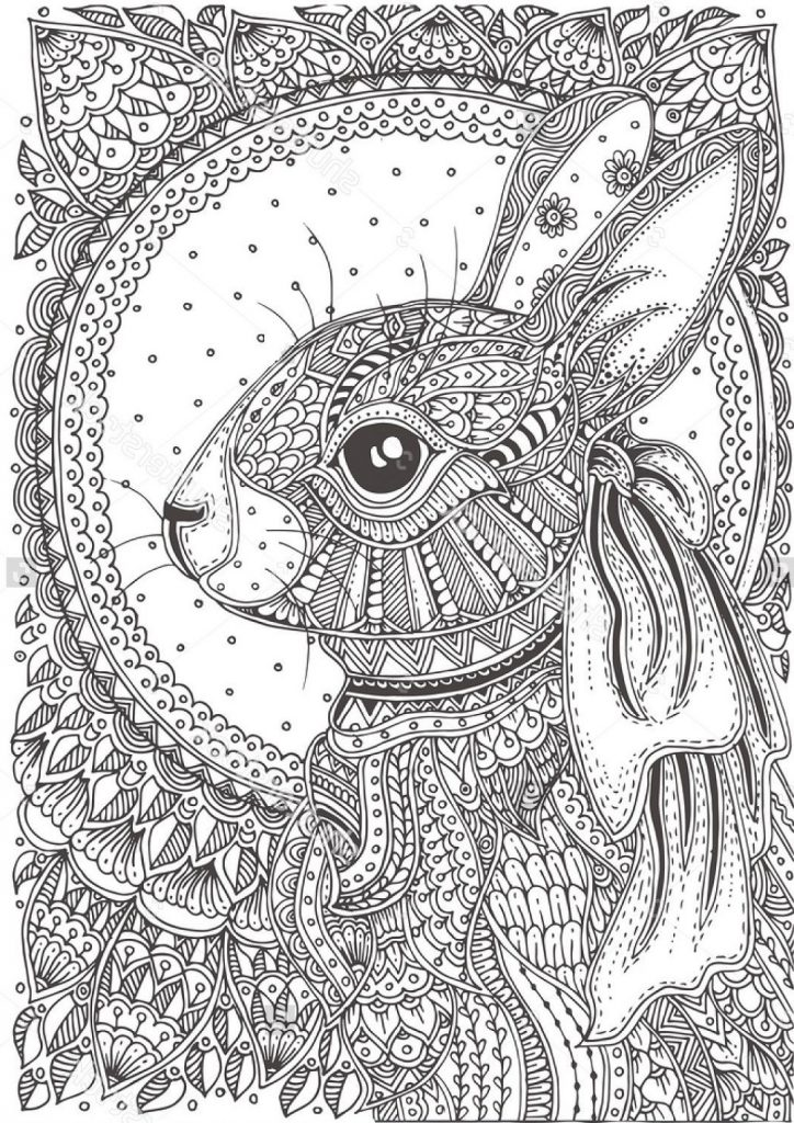 Easter Bunny Pictures To Colour For Adults