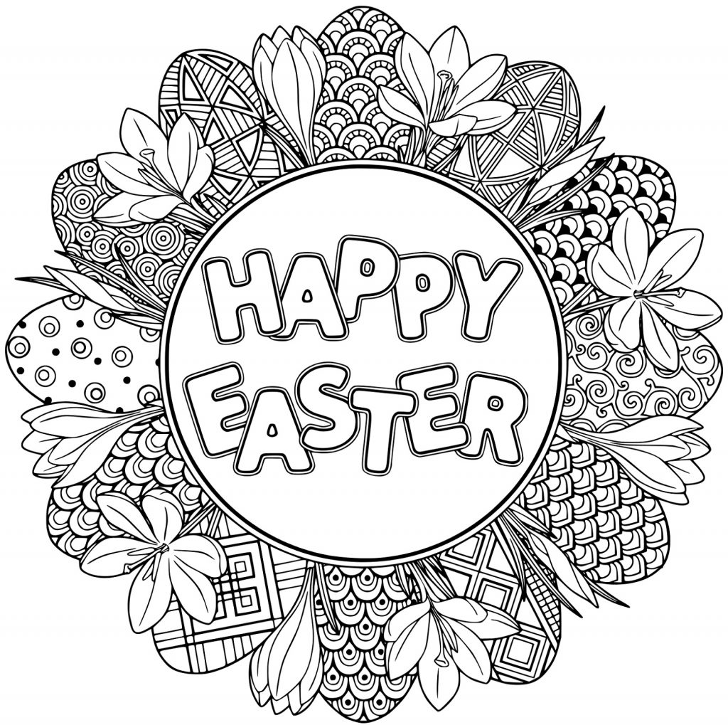 Easter Bunny Pictures To Colour Mandala