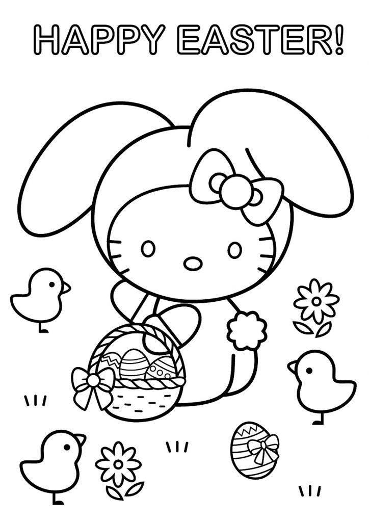 Easter Coloring Pages Easter Egg Hunt