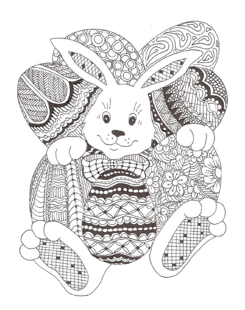 Easter Coloring Pages For Adults Animal