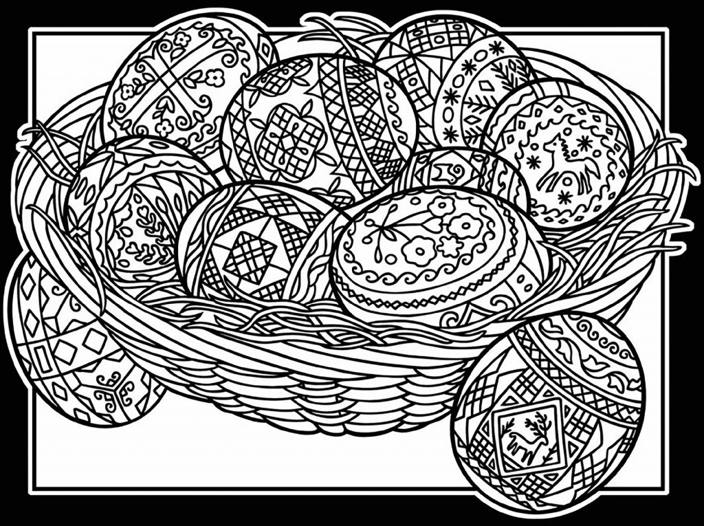 Easter Coloring Pages For Adults Mandala
