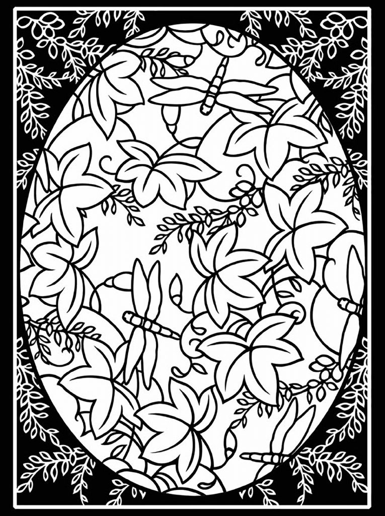 Easter Coloring Pages For Adults Pattern