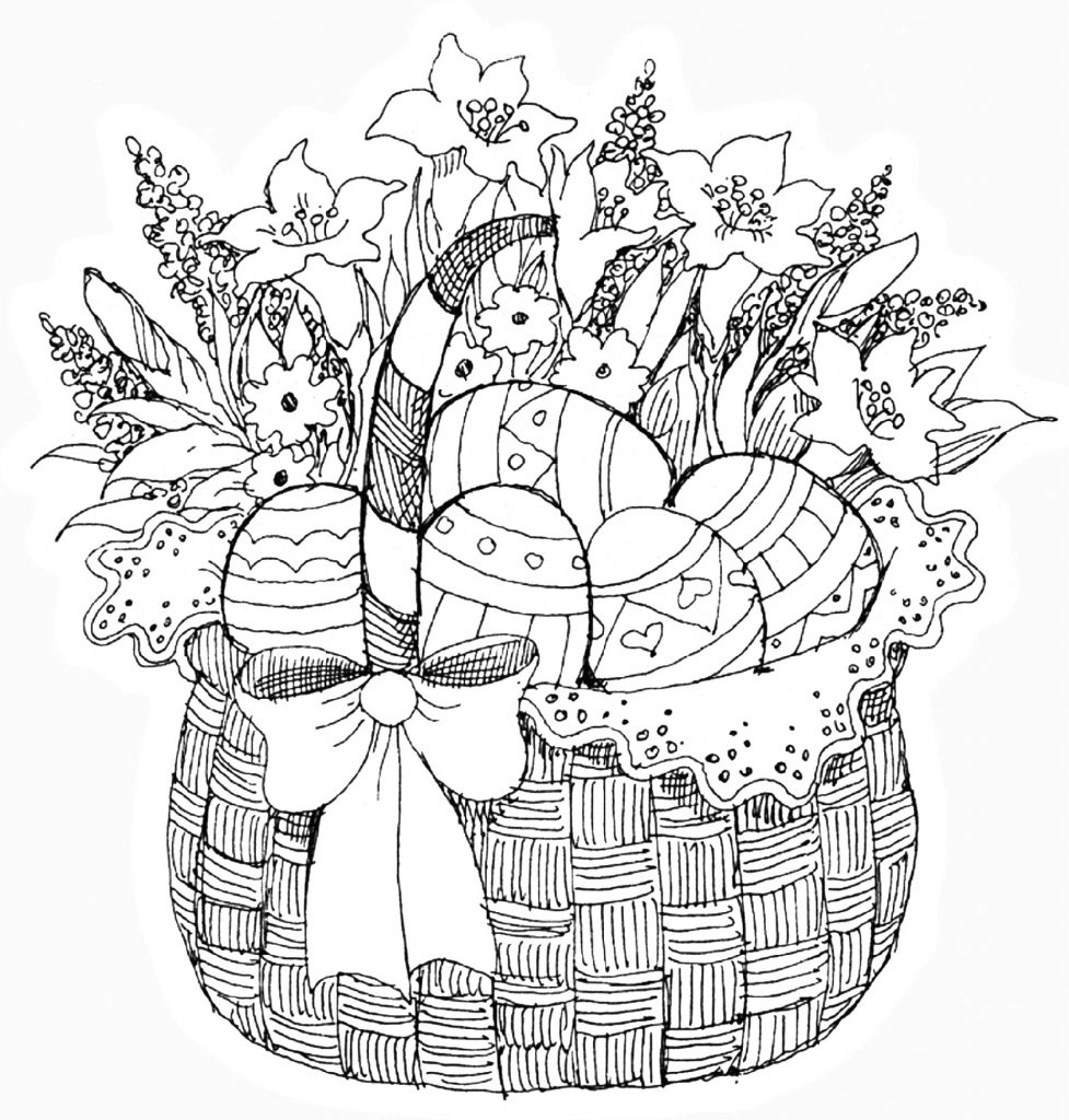 Easter Coloring Pages For Adults Spring